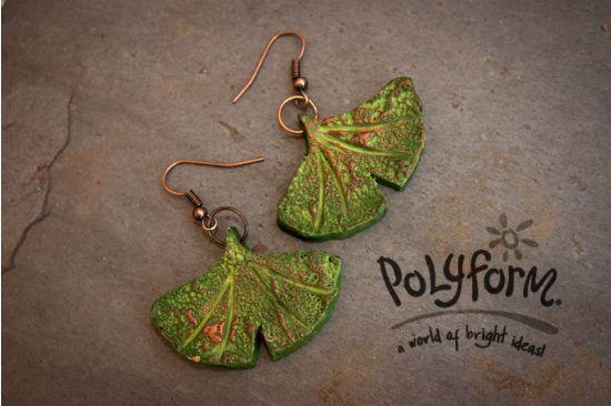 Sculpey® III Ginkgo Leaf Earrings