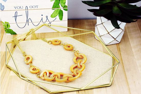 Sculpey Premo™ Amber Chunky Chain Necklace