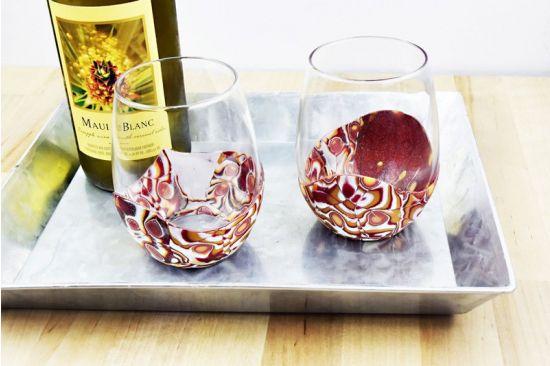 Sculpey Premo™ Amber Layers Wine Glass