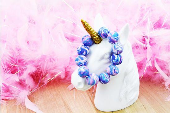 Sculpey Bake Shop® Simple Marbled Beaded Bracelet