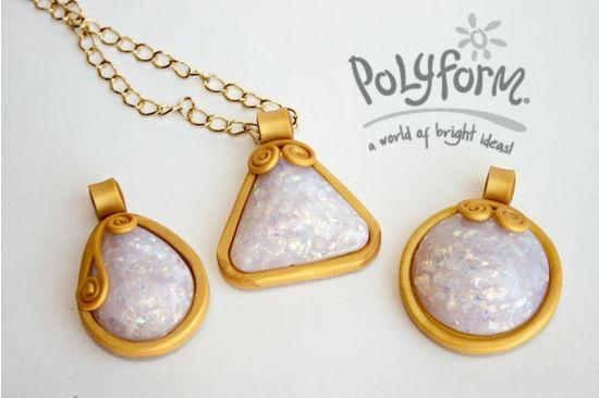 premo! Accents Glowing Faux Opal Pendants