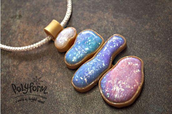 premo! Accents Watercolor Faux Opal Pendant
