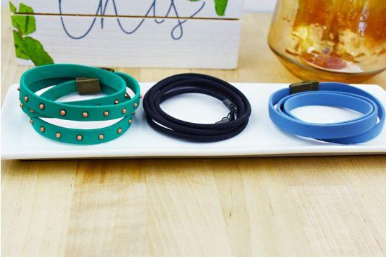 Sculpey Soufflé™ Quick Faux Leather Wrap Stackable Bracelets