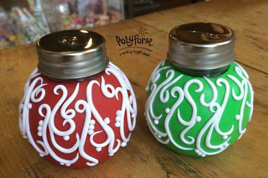 premo! Sculpey Christmas Ornament Salt & Pepper Shakers