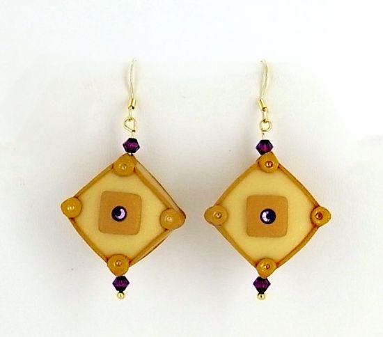 Sculpey® III Hollow Square Bead Earrings