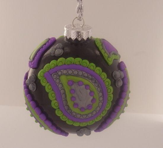 Sculpey Premo™ Purple Paisley Ornament Ball