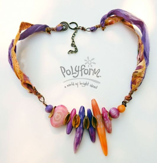 Premo! Subtly Bright Carved Necklace