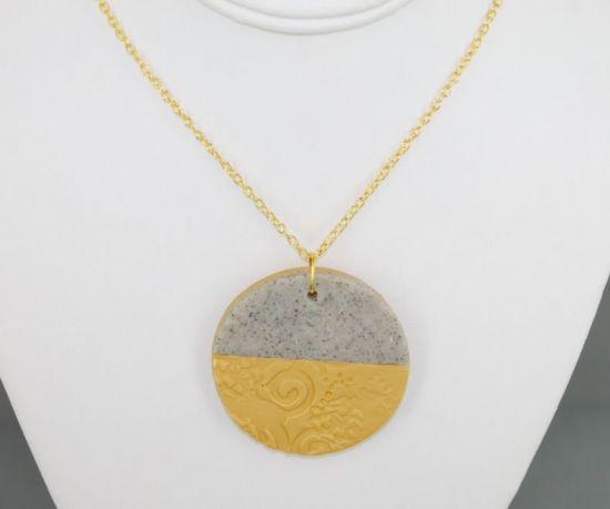 premo Sculpey Textured Necklace