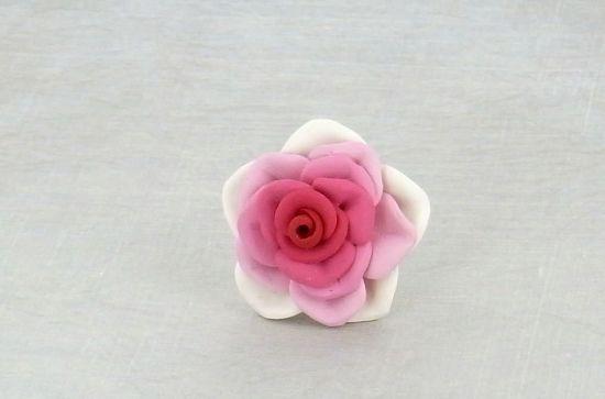 Sculpey Soufflé Rose Flower Ring