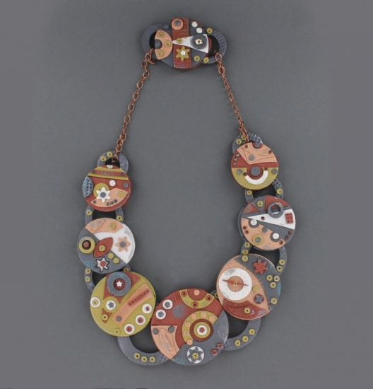 Premo Accents Weird Gears Steampunk Necklace