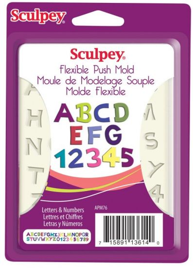Sculpey® Flexible Push Mold - Letters & Numbers