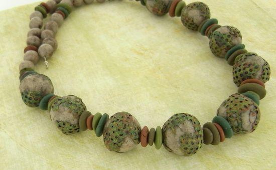 premo! Mossy Faux Stone Necklace