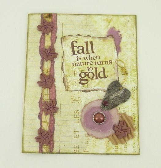 premo! Fall Gold Greeting Card