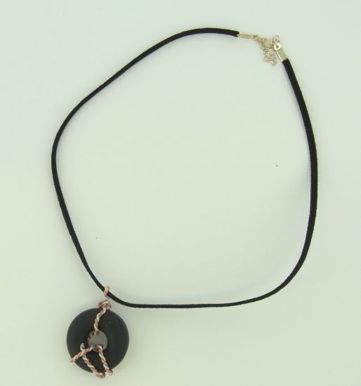 premo! Wire Wrapped Donut Necklace