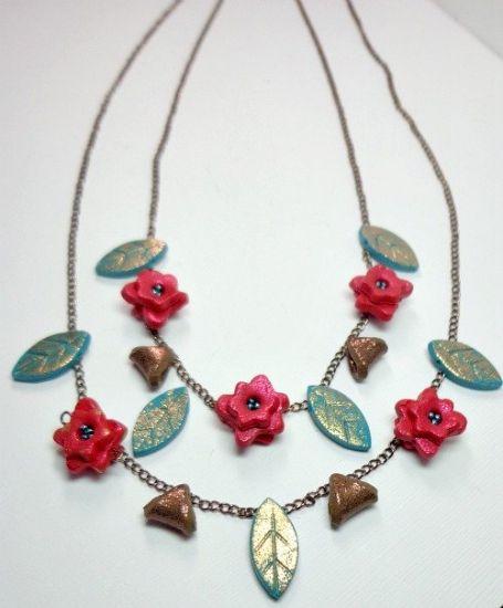 Sculpey Soufflé Flower Statement Necklace