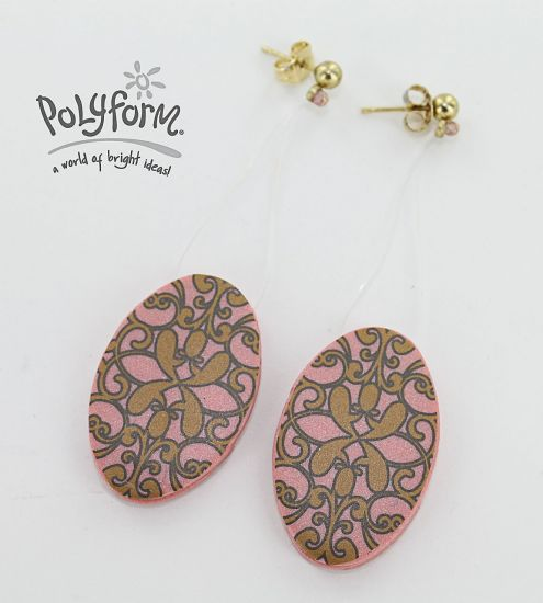 Premo!  Floating Filigree Earrings