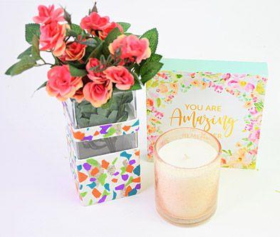 Granite Terrazzo Slab Flower Vase
