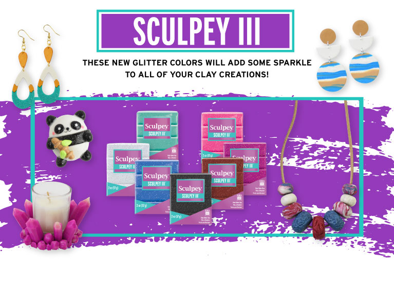 Sculpey III Glitter Clays And Inspiration Projects