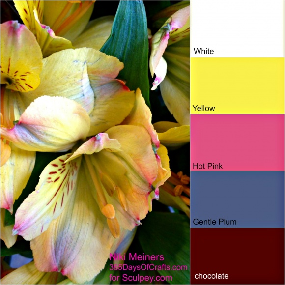 Spring time color combinations for polymer clay