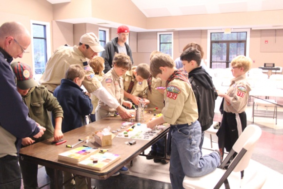 Mokume gane boy scouts easy kids crafts with clay