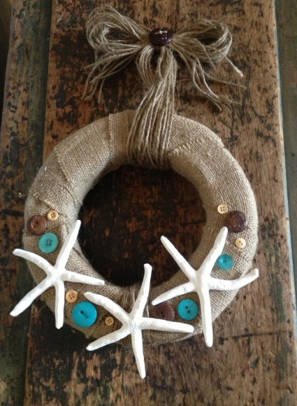 Seaside Wreath with Sculpey Premo Polymer Clay idea