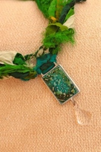 Ice Resin and sculpey polymer clay pendant