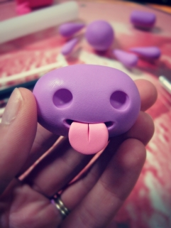 create polymer clay monster tongue