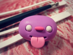 create polymer clay monster eyes