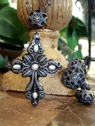 pewter necklace