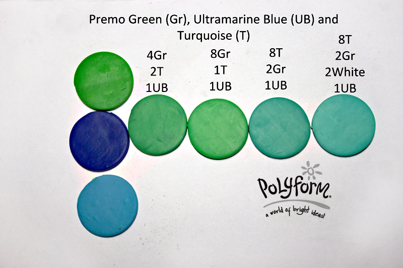 Premo! Green, Ultramarine Blue and Turquoise