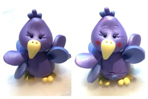 Fluffy Bird Polymer Clay Tutorial by KatersAcres for Polyform | Finishing Fluffy