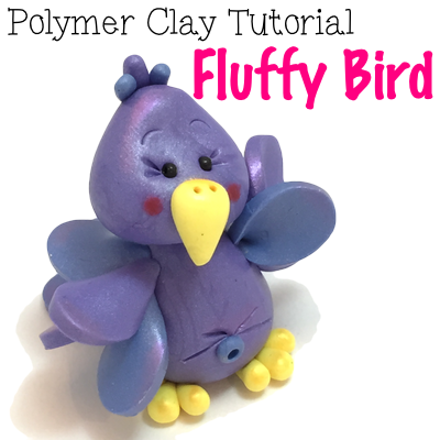 Fluffy Bird Polymer Clay Tutorial by KatersAcres