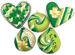 Saint Patrick's Day Pendants & Pins by KatersAcres (Katie Oskin)