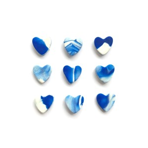 watercolor polymer clay hearts