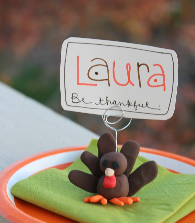 Turkey Place Card Setting