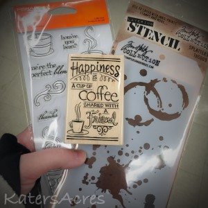 Coffee Themed Stencils and Stamps for Polymer Clay