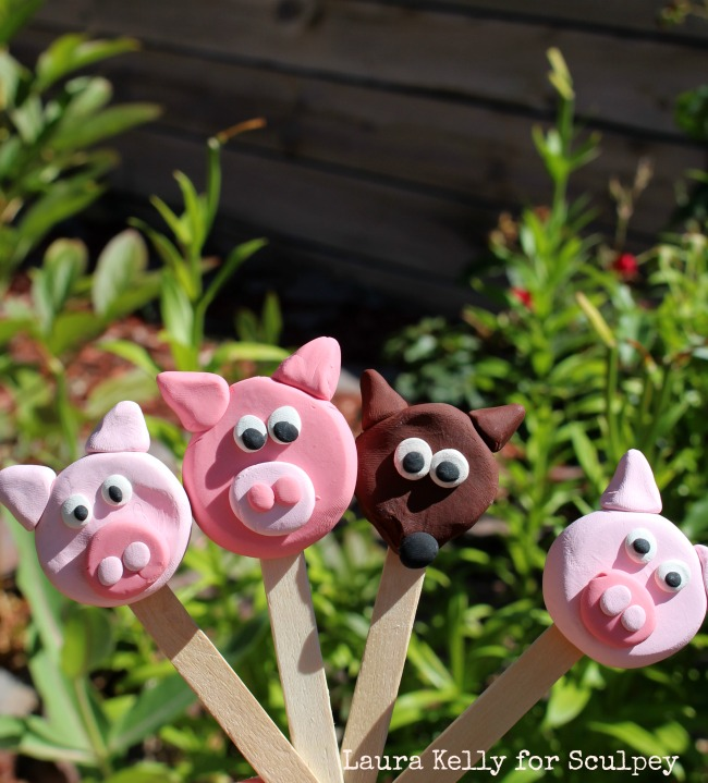 Sculpey Puppets Three Little Pigs