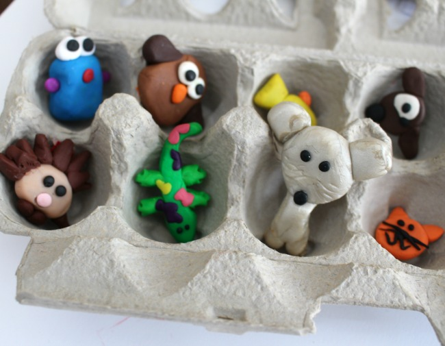 Story Starters in Egg Carton