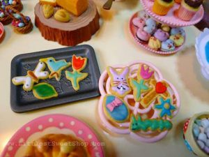 Liquid Sculpey makes beautiful frosting for these colorful cookies