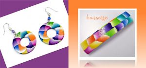 My color Cube Cane creates wonderful earrings and barrettes