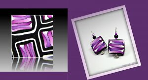 I used this Bold Purple striped cane for my Etsy Shop Avatar. Also for these playful earrings!
