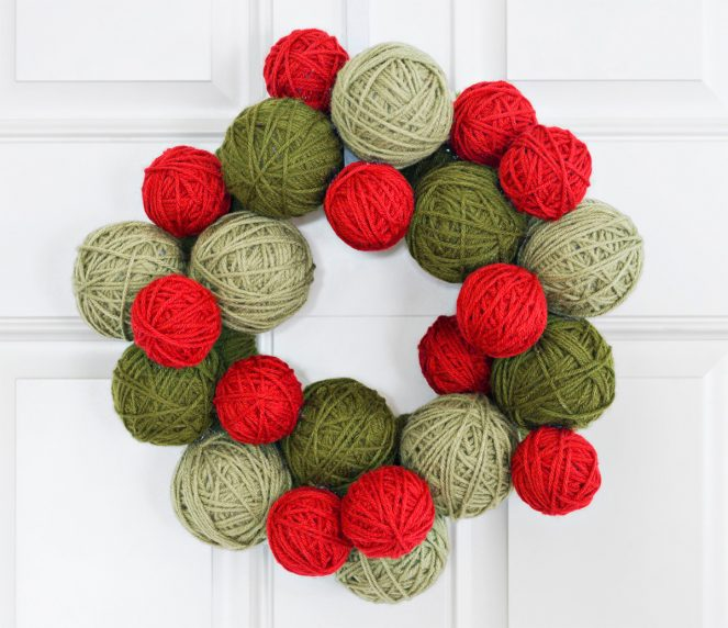 This yarn ball wreath illustrates my point quite nicely.