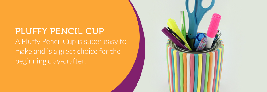 pluffy pencil cup