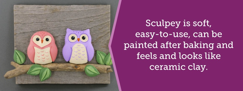 Sculpey clay can be painted