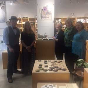 Grand Opening weekend L-R: Randy Prophater, Amy Koranek, Ellen Prophater, Sue Sutherland, and Lindly Haunani.