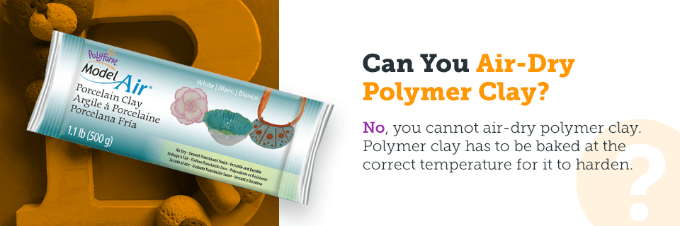 can you air dry polymer clay