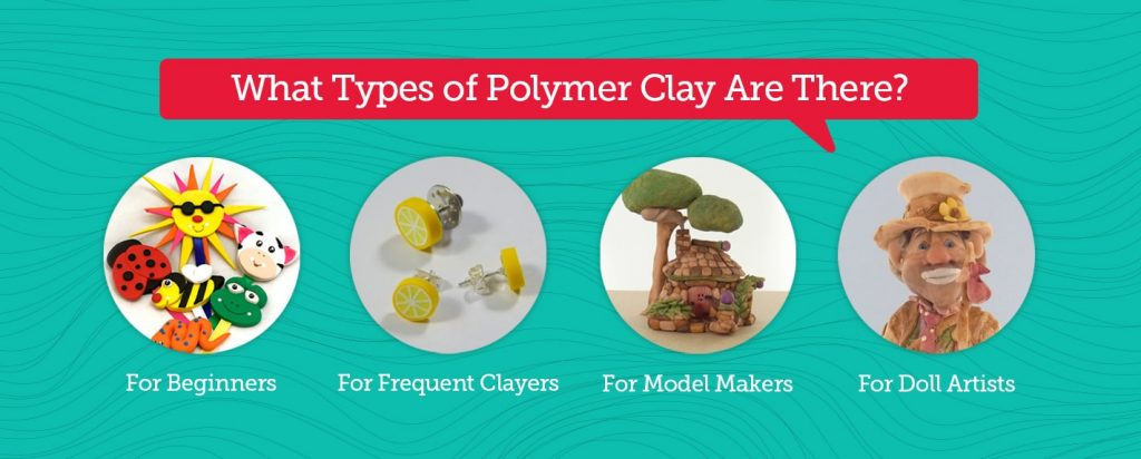 types of polymer clay for four groups of people
