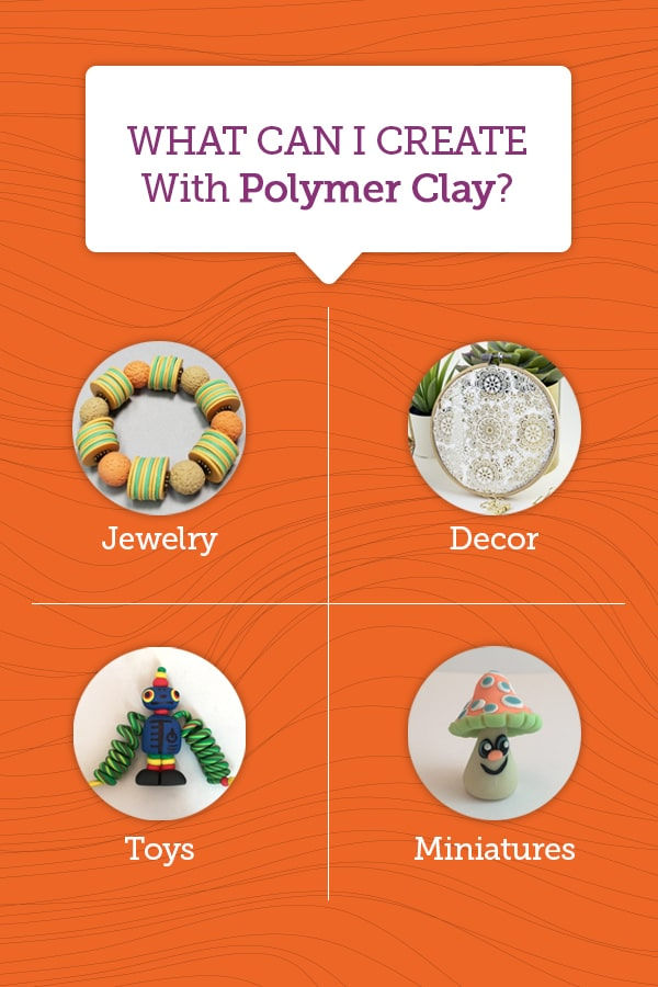 what to create with polymer clay
