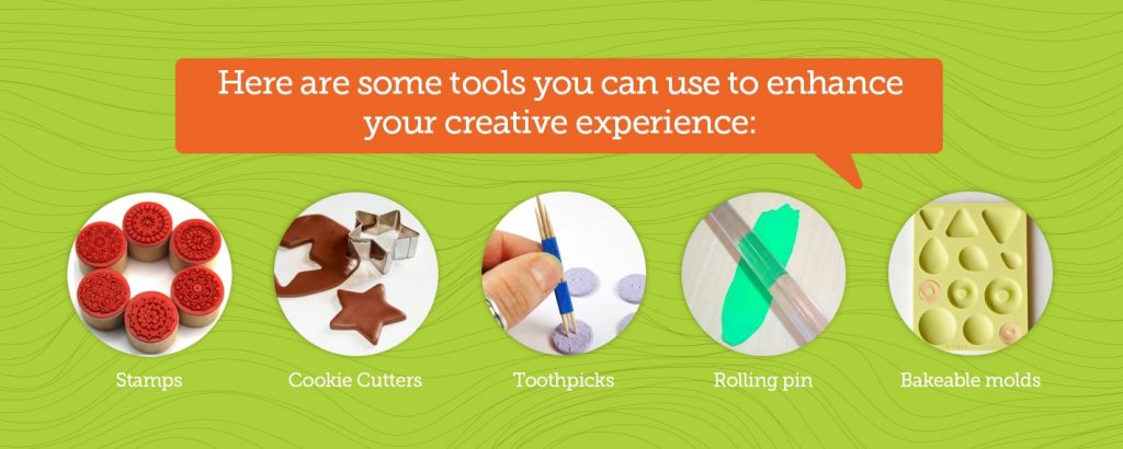 use tools to enhance your creative experience with clay