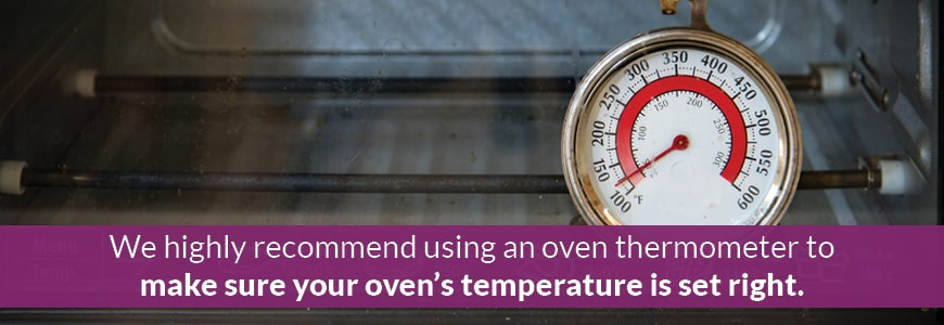 use an oven thermometer when baking clay